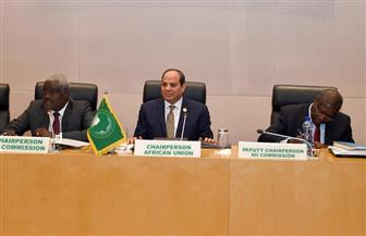 الرئيس السيسي يجتمع مع مفوضية الاتحاد الإفريقي.. ويؤكد مواصلة التعاون في مختلف الموضوعات| صور