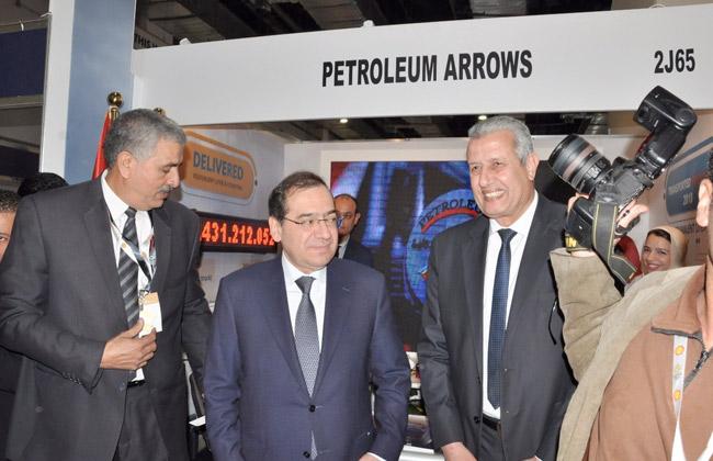 وزير البترول يزور جناح  السهام البترولية  في معرض إيجبس 2019 -