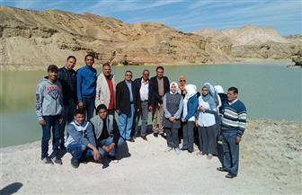 """""""الري"""": عدد من طلاب مدارس أبو زنيمة فى زيارة لمنشآت الحماية من مخاطر السيول بوادى دارات"""