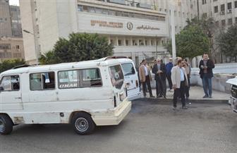 محافظ الجيزة يقود حملة لرفع الإشغالات بحي جنوب الجيزة.. وإلغاء موقف عشوائي أمام مستشفي الرمد| صور