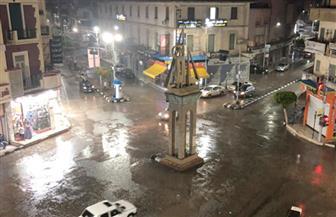 أمطار غزيرة على مدن وقرى كفرالشيخ تتسبب فى انقطاع الكهرباء|صور