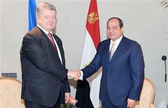 الرئيس السيسي يستقبل رئيس أوكرانيا في ميونخ