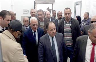 وزير المالية ومحافظ بورسعيد يتفقدان مجمع خدمات المنطقة الحرة| صور