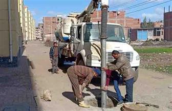 حملة لتطهير خطوط الصرف الصحي وتركيب غطيان للبيارات المكشوفة بمدينة دسوق | صور