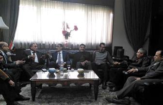علاء ثابت يستقبل ضياء رشوان في مكتبه في مستهل جولته بالأهرام | صور