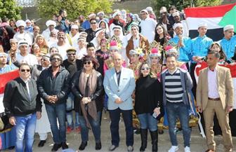 وزيرة الثقافة: مصر أصبحت ملتقى فنيا يجمع شعوب الأرض في مواجهة الإرهاب| صور