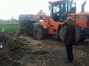 إزالة تعديات على أراض زراعية في مركز الزرقا بدمياط