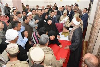 تشييع جثمان شهيد العملية الإرهابية بالدرب الأحمر بمسقط رأسه بالشرقية