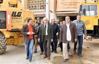 محسن صلاح يتفقد أعمال تطوير إستاد القاهرة الدولي| صور