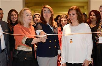 افتتاح معرض حوار الألوان الثالث بحضور وزيرة التضامن |صور