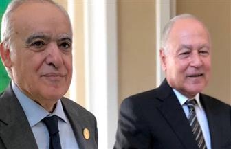 أبو الغيط يبحث مع غسان سلامة سبل حل الأزمة الليبية