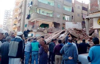 انهيار منزل من 5 طوابق في المحلة الكبرى.. وشاهد عيان يؤكد وجود ضحايا |صور