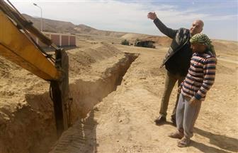 """بدء أعمال تركيب خط """"السيب"""" لمحطة الصرف الصحي بمدينة الطود الجديدة"""