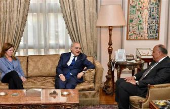 بدء لقاء وزير الخارجية مع مبعوث الأمم المتحدة في ليبيا |صور