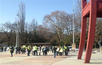 السترات الصفراء يتظاهرون في جنيف