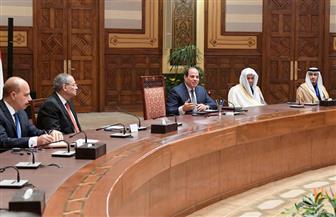 الرئيس السيسي: لا يستطيع أحد أن يتدخل في عمل القضاء واستقلاله | صور