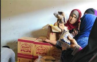 """قافلة """"مبادرة أهل الخير لأهالينا"""" لمحاربة الغلاء تصل قرية الثمانين بالحامول   صور"""