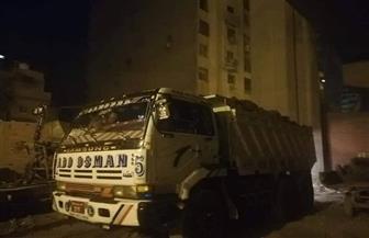 """رفع 32 ألف حالة إشغال.. وضبط 4 سيارات نقل تلقى مخلفات """"الرتش"""" بالجيزة"""