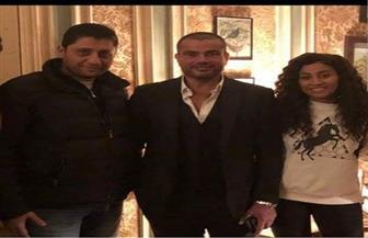 """عمرو دياب يظهر مع دينا الشربيني في بروفات """"زي الشمس"""""""
