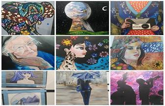 أطفال وشباب يحاكون الطبيعة في ملتقى الفن التشكيلي الأول بساقية الصاوي | صور