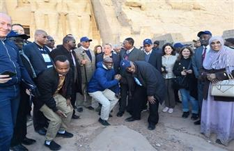سفراء ٢٢ دولة إفريقية يشاركون في احتفالية تعامد الشمس.. ويلتقطون الصور التذكارية