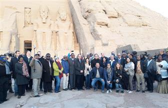 وزيرا الآثار والسياحة يصطحبان السفراء الأفارقة فى جولة بمعبد أبو سمبل