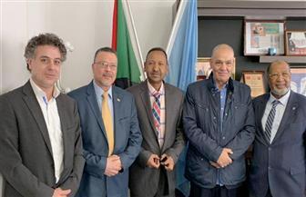 اتحاد الجاليات المصرية يستقبل سفيرالسودان بالأمم المتحدة في جنيف