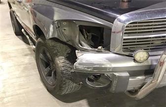 أحمد زاهر يتعرض لحادث بسيارته  صور