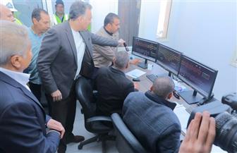 وزير النقل يتابع التشغيل التجريبي لبرج إشارات مغاغة للسكك الحديدية| صور