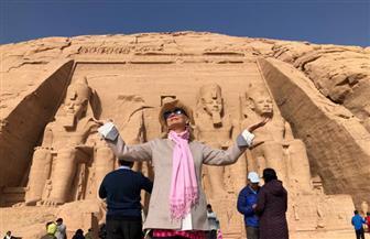 النجمة العالمية باربرا بوشيه تزور معبد أبو سمبل