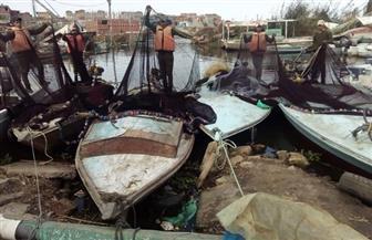 حملة لإزالة التعديات على بحيرة البرلس | صور