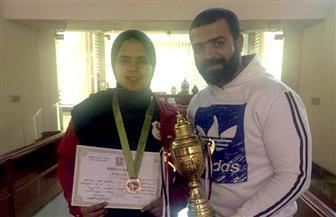 أمنية حاتم لاعبة المصري تحصل على برونزية الجودو في بطولة الجمهورية تحت 20 عامًا