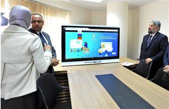 """""""الفصل المقلوب"""".. أسلوب إلكتروني جديد لتعليم الطلاب بمدارس النيل الحكومية"""