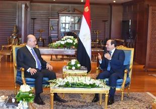 تفاصيل لقاء الرئيس السيسي مع نظيره العراقي برهم صالح   صور