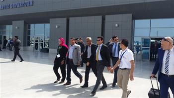 وزير الشباب والرياضة يصل مطار الغردقة لحضور ختام بطولة التايكوندو | صور