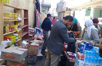 قافلة بقرية الضبعة بكفر الشيخ لبيع السلع الغذائية بأسعار مخفضة | صور