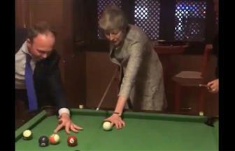 تيريزا ماي ورئيس الوزراء الإيطالي يلعبان البلياردو في شرم الشيخ  فيديو