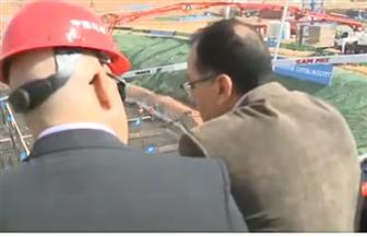 رئيس الوزراء ووزير الإسكان يشهدان صب خرسانة أعلى برج بإفريقيا في العاصمة الإدارية الجديدة