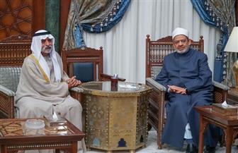 وزير التسامح الإماراتي يسلم الإمام الأكبر درع الجائزة العالمية للأخوة الإنسانية