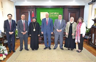 """افتتاح معهد البحوث والدراسات القبطية بـ""""آداب الإسكندرية""""  صور"""