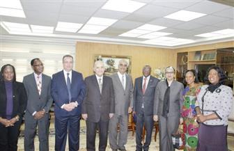 وزير العدل يستقبل أعضاء المجلس الاستشارى لمكافحة الفساد بالاتحاد الإفريقى