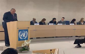 كلمة وزير الخارجية أمام الشق رفيع المستوى للدورة الأربعين لمجلس حقوق الإنسان | صور