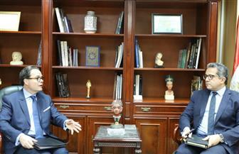 وزير الآثار يستقبل السفير الفرنسي بالقاهرة | صور