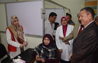 افتتاح عيادتين للأسنان والإعاقة البصرية بمستشفى الرمد في بني سويف  صور