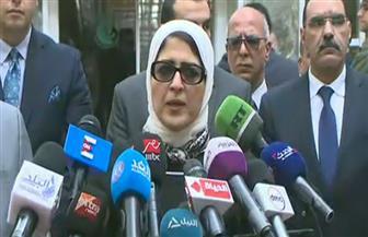 """وزيرة الصحة: خروج 15 مصابا في حادث """"محطة مصر"""" بعد تحسن حالتهم.. وبعض الجثامين لم يتم التعرف عليها"""