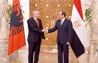 السيسي: ناقشت مع الرئيس الألباني التعاون بين الأزهر والمؤسسات الألبانية لنشر قيم التسامح