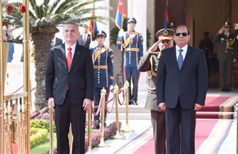 الرئيس السيسي ونظيره الألباني يؤكدان أهمية التعاون والتبادل التجاري والاستثماري بين البلدين  صور