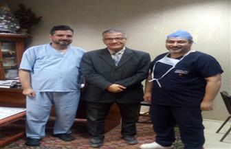 استئصال ورم في الغدة الدرقية بأسلوب جراحي جديد في جامعة المنصورة