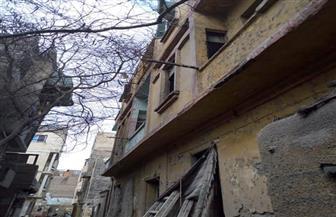 إصابة عامل في انهيار عقار خلف جامع الأزهر| صور