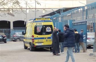 وصول سيارتي أسعاف لمشرحة زينهم تحملان جثامين لضحايا قطار محطة مصر لتحديد هويتهم |صور